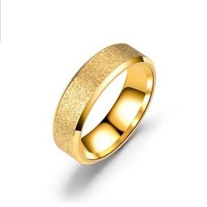 NEW PISA Trendy Titanium Gold Ring